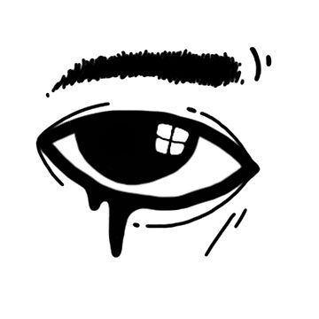 Crying eye by keije