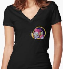 Pocketspace Hoopa Women's Fitted V-Neck T-Shirt