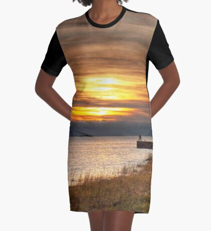 View point Graphic T-Shirt Dress