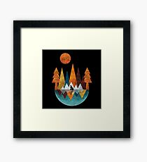 The Night Of The Wolf Framed Print
