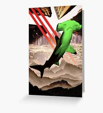 Green Hammerhead Greeting Card