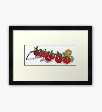 Cherry Tomatoes watercolor Framed Print