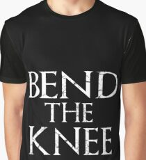 Bend The Knee Game Of Thrones Fan Graphic T-Shirt