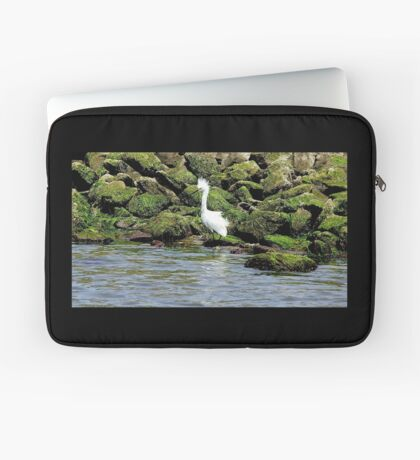 Snowy Egret Laptop Sleeve