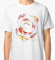 Watercolor Flowing Koi Fish Classic T-Shirt