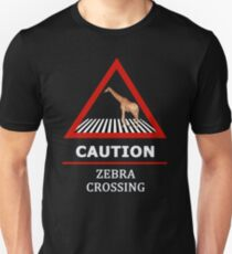Zebra Crossing Road Sign T-Shirt