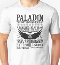 PALADIN, THE OATHBOUND KNIGHT- Dungeons & Dragons (Black) T-Shirt