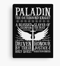 PALADIN, THE OATHBOUND KNIGHT- Dungeons & Dragons (White) Canvas Print