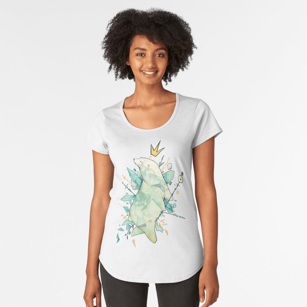 Polar bear king Women's Premium T-Shirt Front