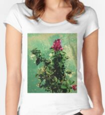 funky magenta rose 08/11/17 Women's Fitted Scoop T-Shirt