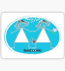 fun stickers featuring two girls Sticker