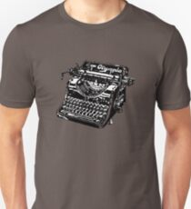 Black Vintage Typewriter T-Shirt
