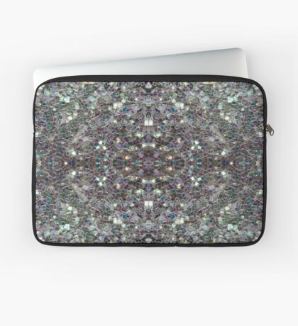 Sparkly colourful silver mosaic mandala Laptop Sleeve