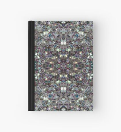 Sparkly colourful silver mosaic mandala Hardcover Journal