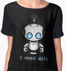 Cute Robot Women's Chiffon Top