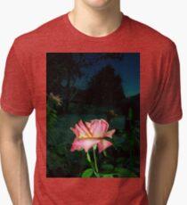 pinkish rose, night sky 08/11/17 Tri-blend T-Shirt