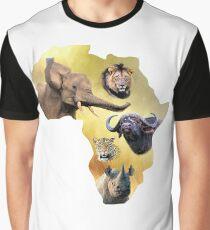 Africa's Big Five Animals | African Wildlife Graphic T-Shirt