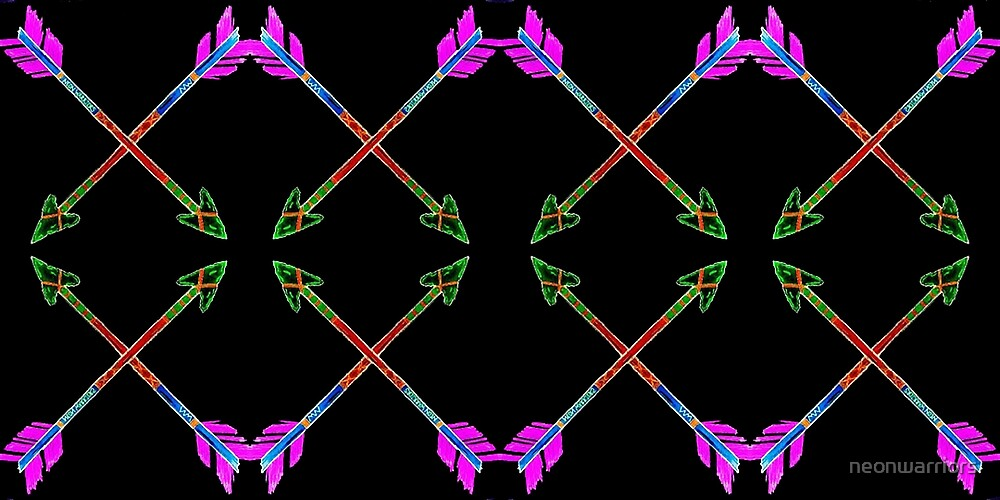 Neon Warriors Arrow In BLK by neonwarriors