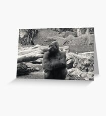Arms Folded Gorilla Greeting Card