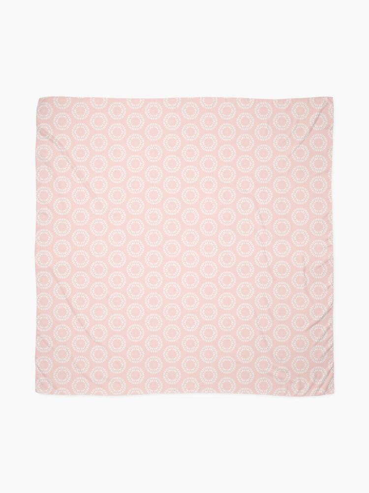 Alternate view of Cute Pink & White Drawn Circles Pattern Scarf