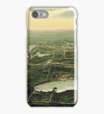 Waukesha Wisconsin Vintage Bird's Eye View iPhone Case/Skin