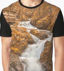 Gold Centipede Falls Graphic T-Shirt