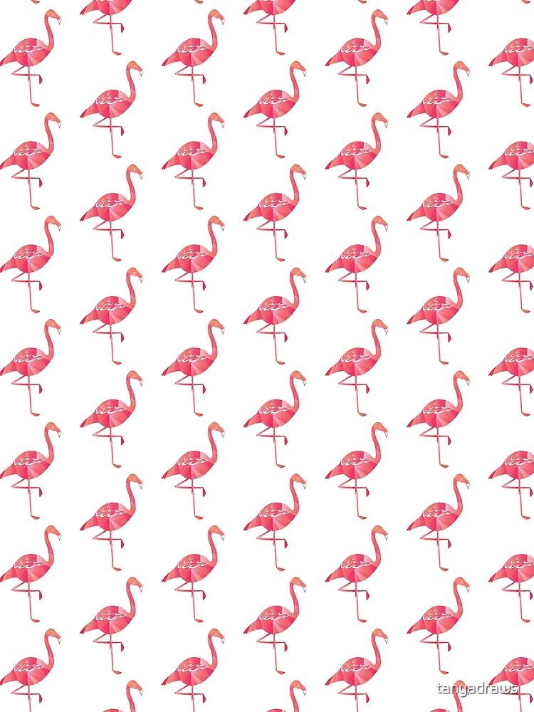 A Geometric Pink Flamingo by tanyadraws