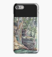 Mountaintop forest iPhone Case/Skin