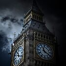 Gothic Clock Tower by Robin Whalley
