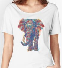 Ornate Elephant (Watercolor Version) Women's Relaxed Fit T-Shirt