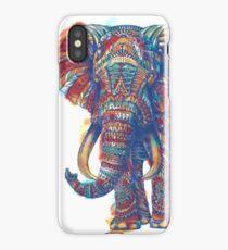 Verzierter Elefant (Aquarell Version) iPhone-Hülle & Cover