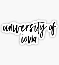 University of Iowa Sticker