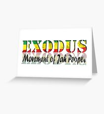 Exodus Movement of Jah People  Greeting Card