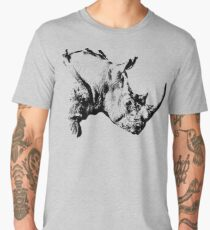 White Rhino with Oxpeckers | African Wildlife Men's Premium T-Shirt