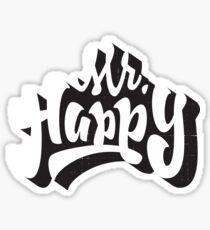 Mr. Happy Sticker