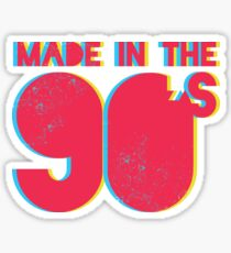 Made in the 90's Sticker