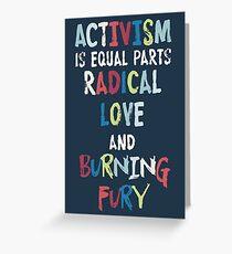 ACTIVISMUS = LIEBE + FURY Grußkarte