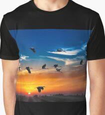 SUNSET PRINT Graphic T-Shirt