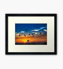SUNSET PRINT Framed Print