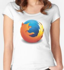 Firefox Women's Fitted Scoop T-Shirt