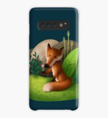 Fox' Flower Hülle & Klebefolie für Samsung Galaxy