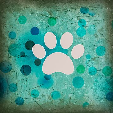 Blue Dot Paw by LisaSBaker