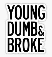 KHALID YOUNG DUMB & BROKE LYRICS Sticker