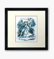 jaina white Framed Print