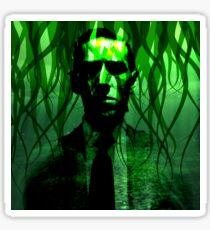 H.P. Lovecraft Tentacle Portrait Sticker