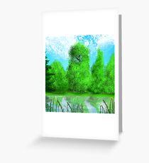 Calming lake Greeting Card