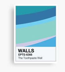 The Toothpaste Wall Canvas Print