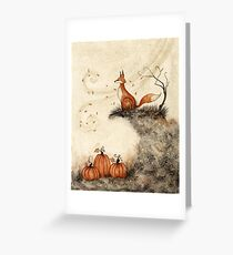 Guarding the Pumpkin Patch Greeting Card