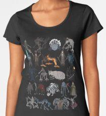 Camiseta premium para mujer Bloodborne bosses