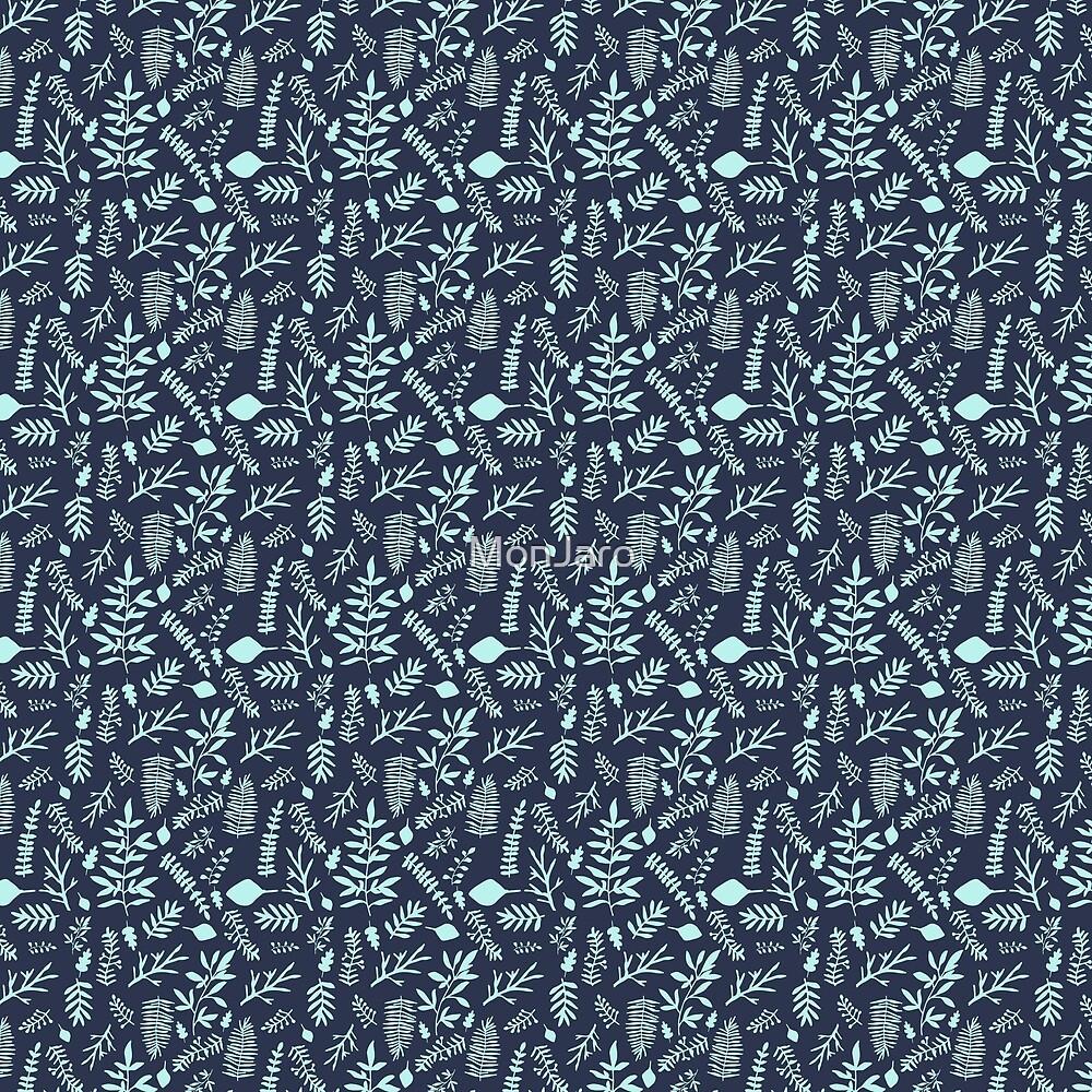 «Woodland Nr. 3 - Azul claro en Indigo» de MonJaro